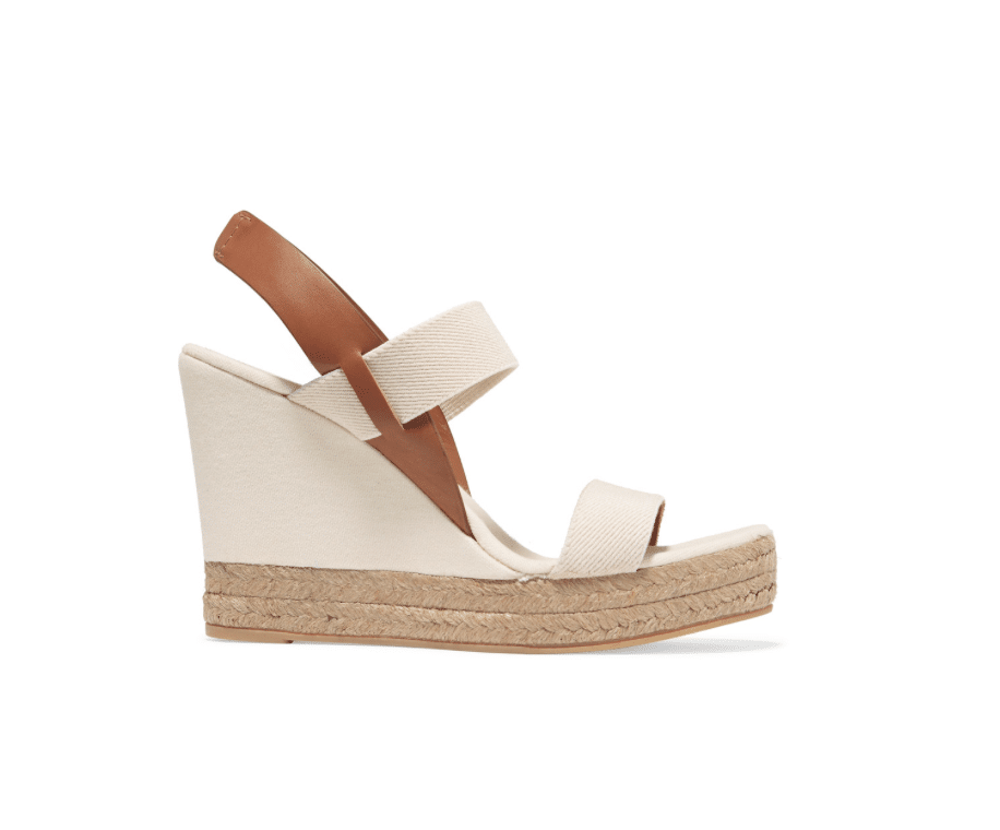 7325d9fce458 TORY BURCH Canvas and leather wedge sandals - alexie