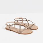 Zara flat embellished sandals