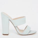 ASOS Mint green block heel mules