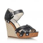 Michael Michael Kors black wedge sandal