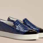 Finery London luxury slip on trainer in patent croc