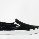 Vans black slip on trainers