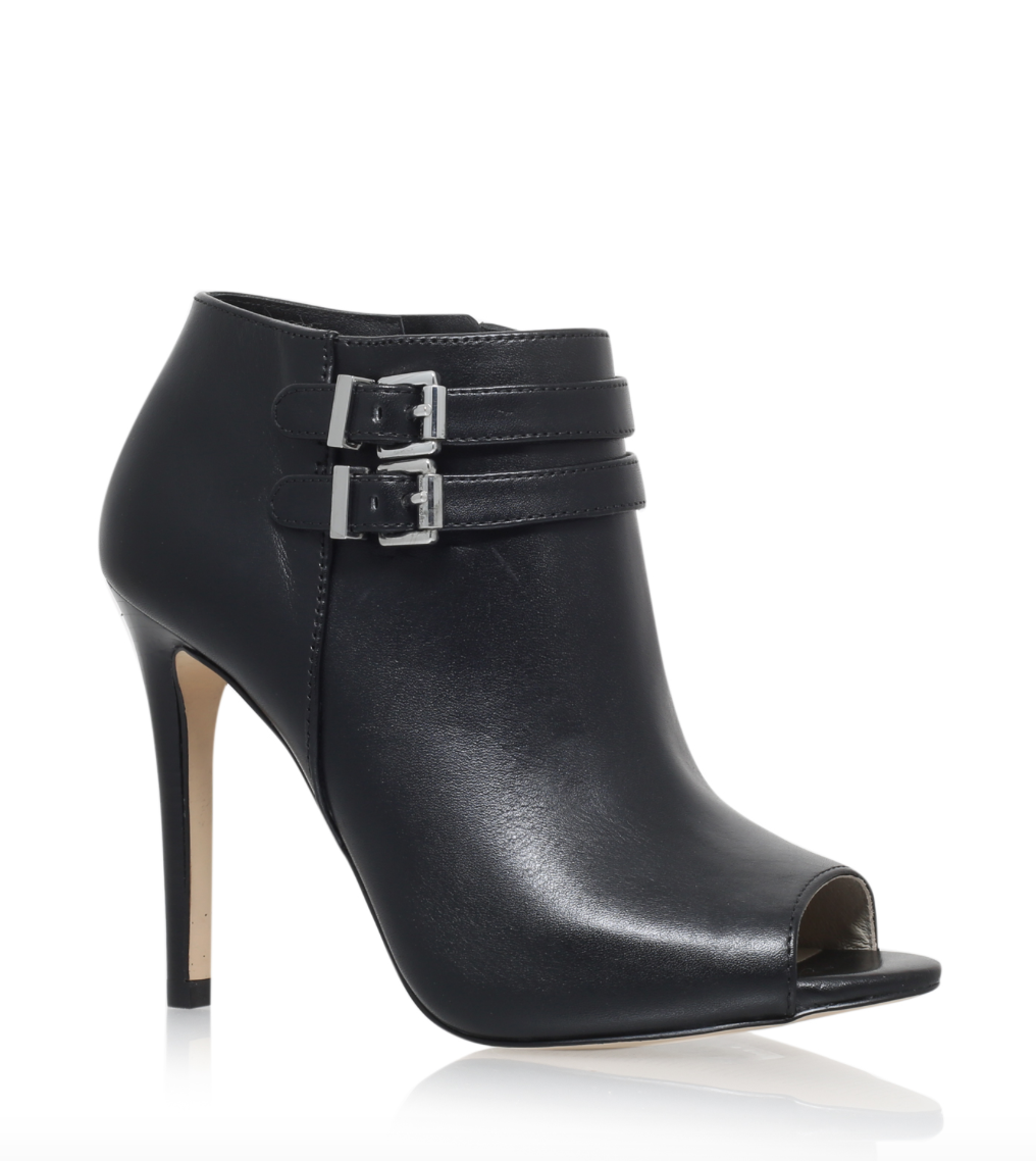 Michael Michael Kors cut out black ankle boot