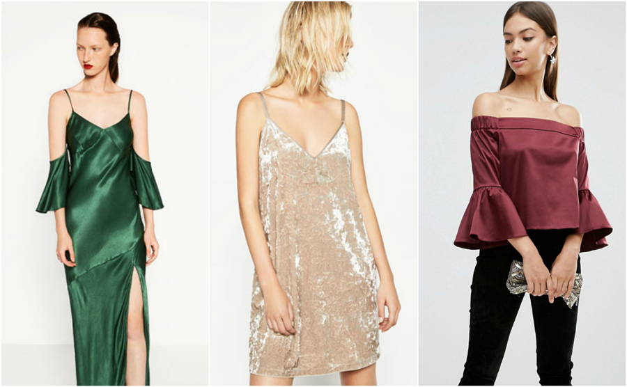House Party Wear Autumn Winter Jewel Tones Satin Silk Velvet Fashion Dress
