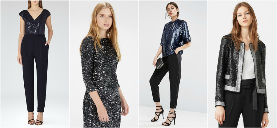 House Party Wear Sequins Fashion Sparkly Glitter Blazer Top Jumpsuit ...