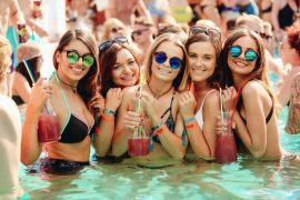 Girls at the ZRCE pool party