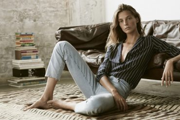 Daria Werbowy AG Jeans High Waisted Fashion Style Fit Outfit