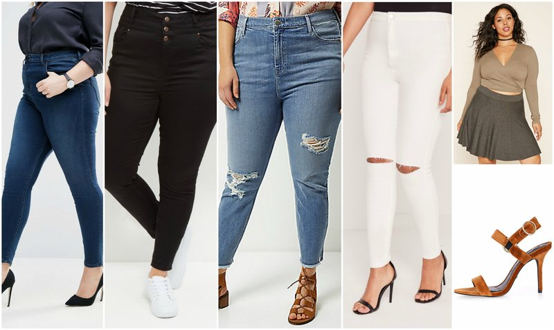 Outfit Grid High Waisted Jeans for Curvy Girls