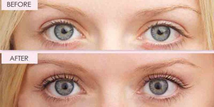Eyelashes before and after tinting