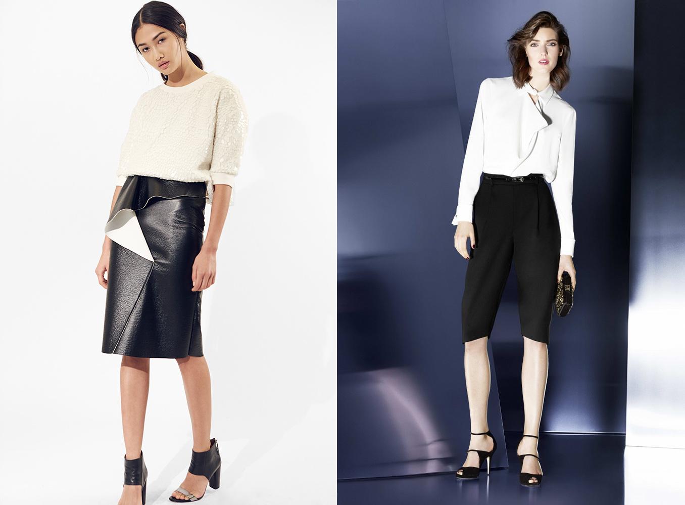 Black pants white shirt pant row for Black dress shirt outfit