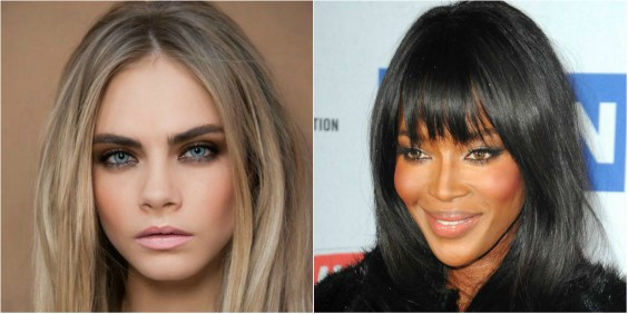 Cara Delavigne and Naomi Campbell Nude lipstick trend