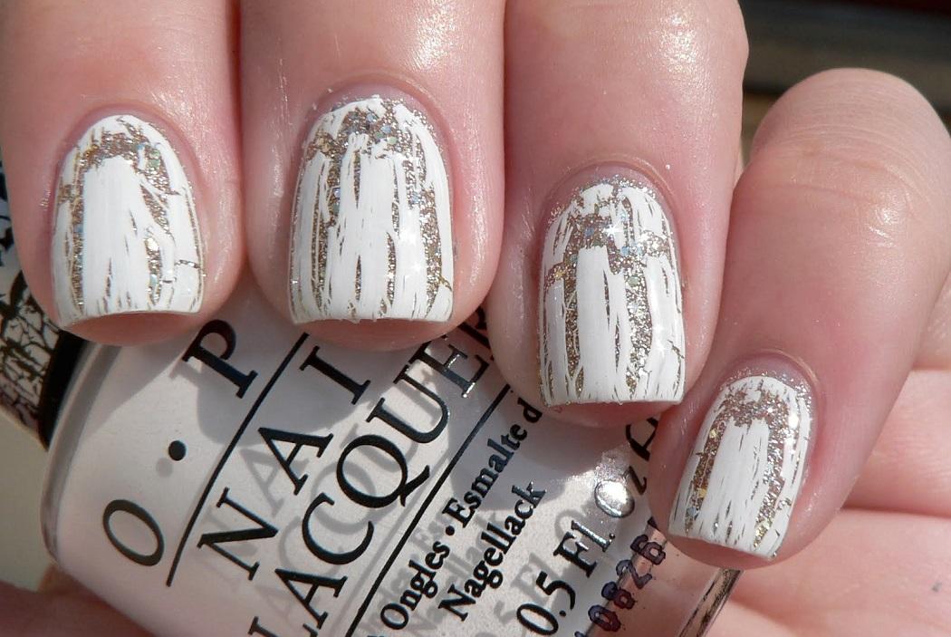 OPI shatter white nail varnish
