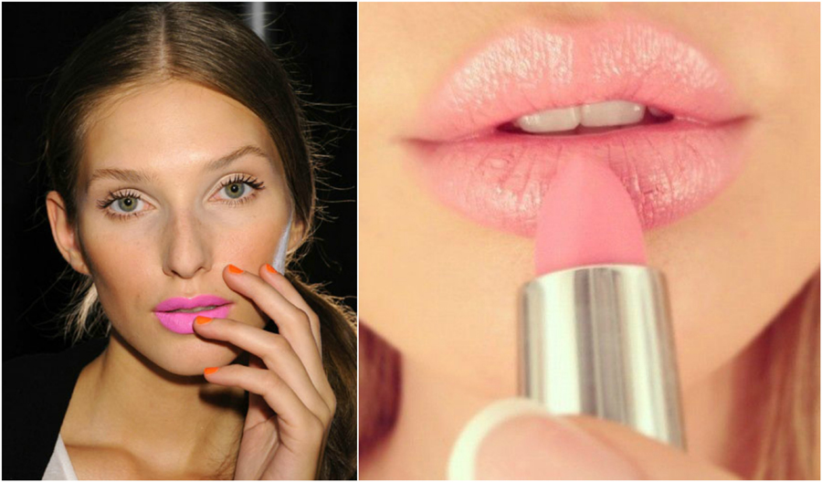 bubblegum-pink-lipstick-beauty-nails-lip-gloss-lips-make-up