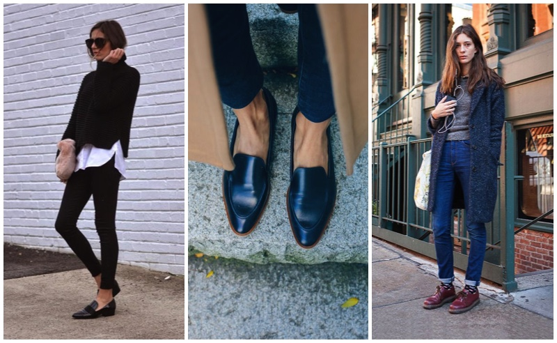 skinny-jeans-brogues-flats-loafers