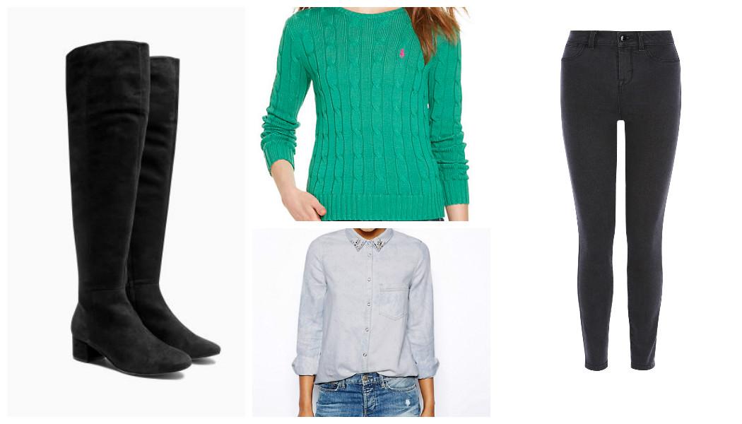 winter denim shirts jumper jeans boots