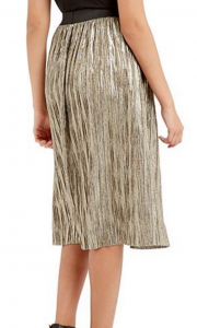 Gold Metallic Skirt