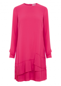 Warehouse Pleated Hem Shift Pink Dress £49