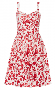 OSCAR DE LA RENTA Printed cotton-blend dress £470.25