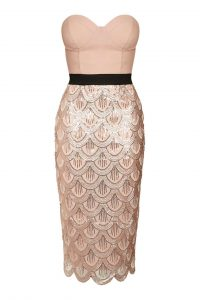 Sequin Scallop Edged Dress