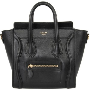 Celine Black Leather Handbag
