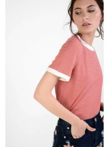 Glamorous Striped Red and White Tee £15.00