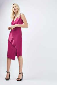 Topshop Drape Front Midi Dress £55