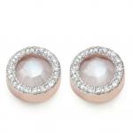 Naida Circle Stud Earrings £295