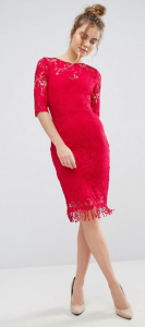 Paper Dolls 3/4 Length Sleeve Lace Dress £68.0