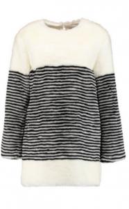 GOEN J Striped faux fur coat £186