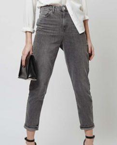 Topshop MOTO Grey Mom Jeans