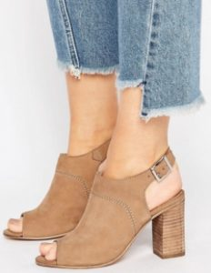 ASOS Wide Fit Peep Toe Shoe Boots
