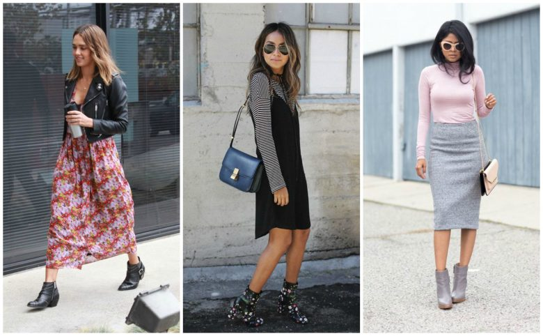 Celebrities and bloggers wear ankle boots in spring/summer