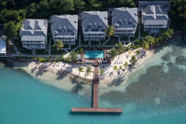 Aerial view of South Point serviced appartments Antigua