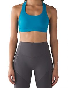 Lululemon Fast Lane Bra - Indian Ocean £52