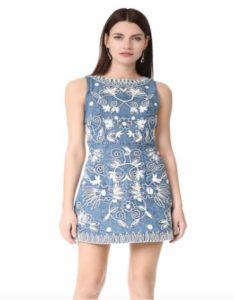 A corded floral pattern mini dress