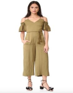 Whistles yasmin scrappy jumpsuit in olive green