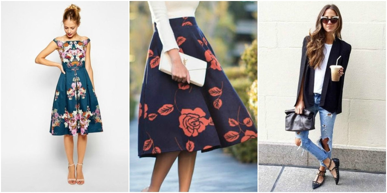 Floral Summer Mini Dress, Floral Midi Skirt And Clutch Bag, Structured  Blazer With Ripped