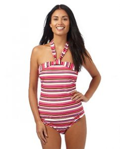 Debenhams Beach Collection Striped Tankini Top (£24) and Bottoms (£12)