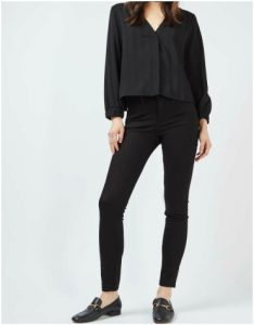 Topshop Calvin Klein 2.0 skinny mid rise black jeans