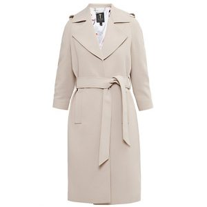 Ted Baker Caila Long Trench Coat, Taupe