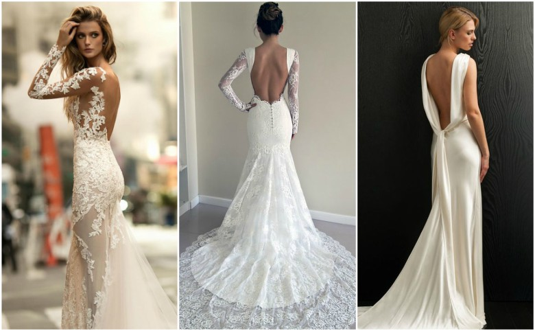 What to wear under a wedding dress three brides in backless wedding dresses junglespirit Image collections