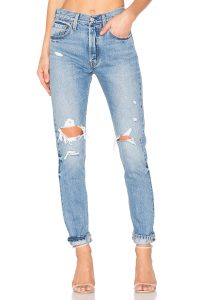 Blue Ripped Levi Jeans