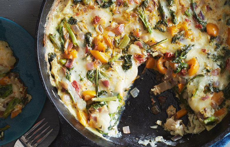 low carb breakfast idea: egg frittata