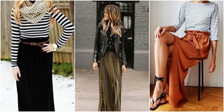 Autumn Winter Maxi Skirts