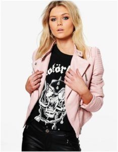 Boohoo Pink Faux Leather Jacket