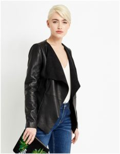 Oasis Waterfall Leather Jacket