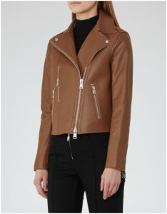 Reiss Brown Leather Jacket