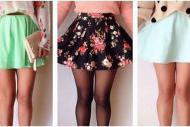 Floral and coloured skater skirts