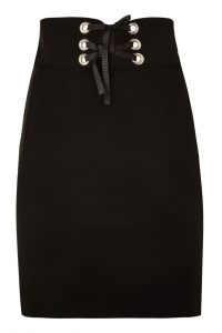 Corset Waist Mini Skirt Black