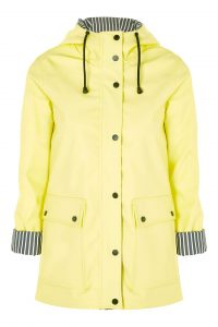 Yellow Hooded Raincoat Mac